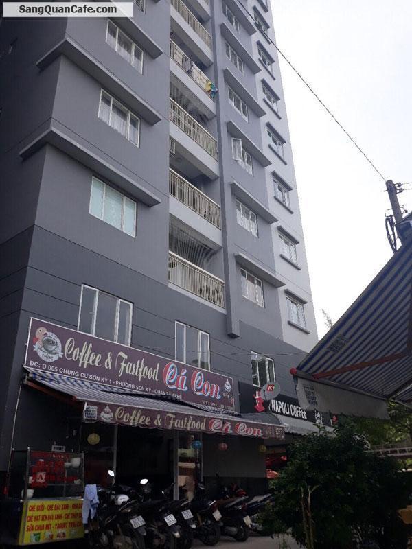 Sang quán nằm dưới chung cư Sơn Kỳ 1 cao 7 tầng