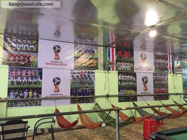 Cần sang gấp quán cà phê bi da, võng, k+ bóng đá