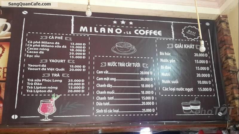 Cần sang gấp quán cafe đang kinh doanh mặt bằng thoáng mát