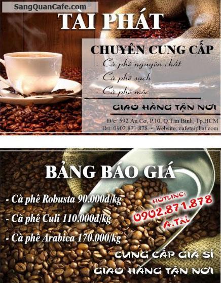 Chuyên cung cấp cafe nguyên chất, sạch, mộc giá rẻ