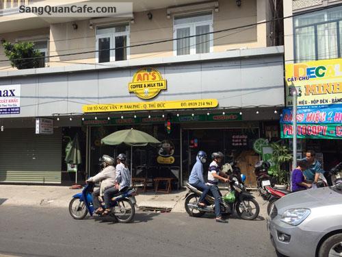 Cần sang nhượng quán cafe mặt tiền đường khu dân cư sầm uất
