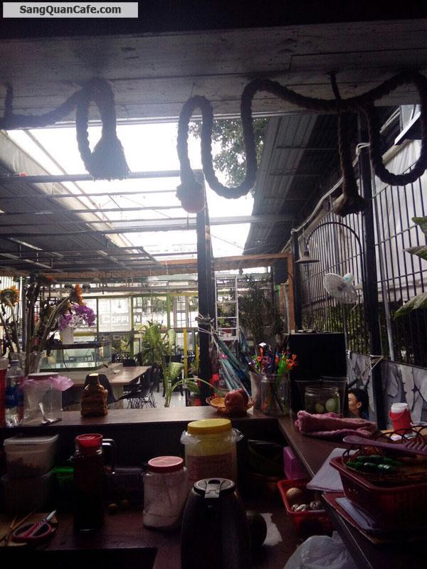 Sang quán cafe sân thương mặt tiền Song Hành