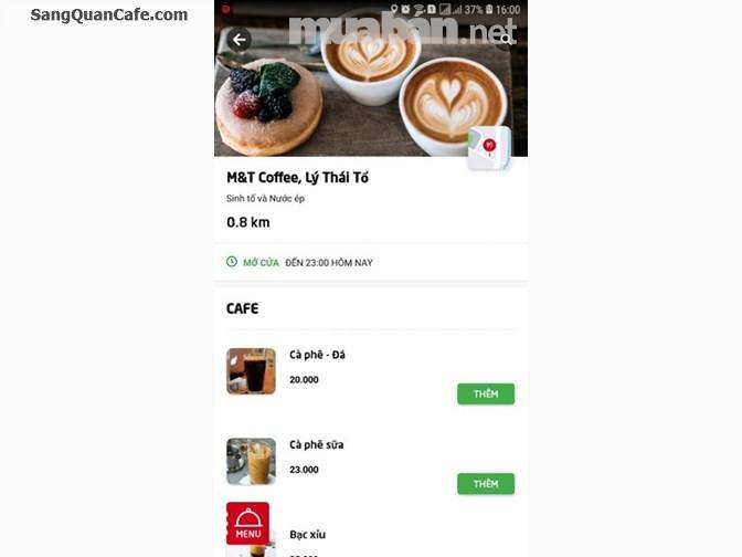Sang Quán cà phê mặt đường Lý Thái Tổ