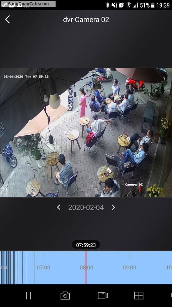 Sang gấp quán cafe 2 mặt tiền vỉa hè rộng.