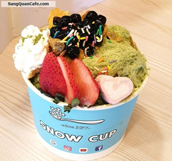 Sang Quán Cafe – Kem SNOW CUP Có Vị Trí Đẹp