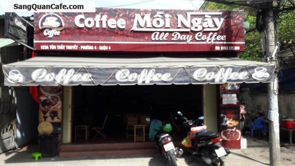 Cần sang GẤP quán cafe trung tâm quận 4