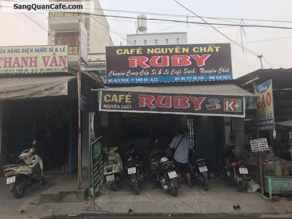cần sang lại toàn bộ quán cafe mặt tiền đường