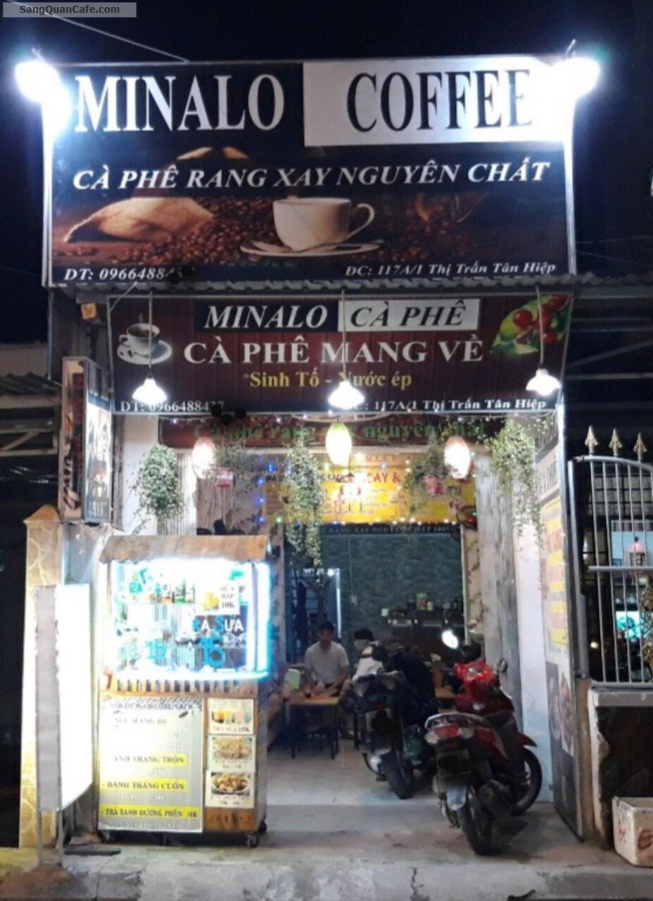 Cần sang nhượng gấp quán cafe ngay trung tâm Hóc Môn