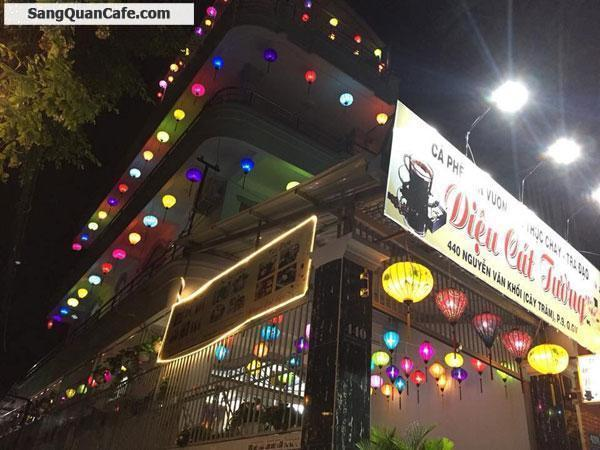 Cần sang Quán Cafe Sân Vườn quận Gò Vấp