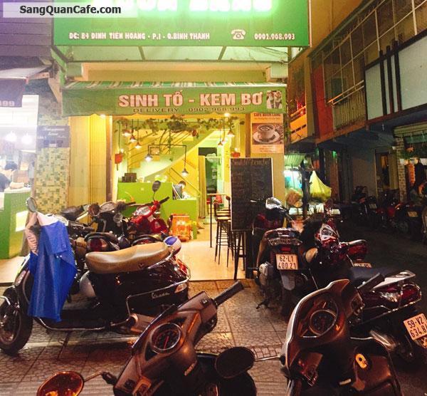 Cần sang quán cafe - sinh tố đường Đinh Tiên Hoàng