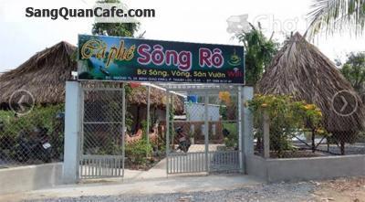 Cho thuê quán cafe sân vườn mái lá bờ sông