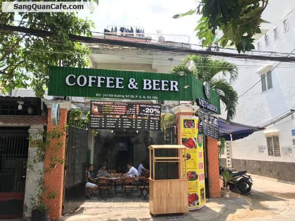 Sang cafe 2 mặt tiền rất thuận tiện cho kinh doanh