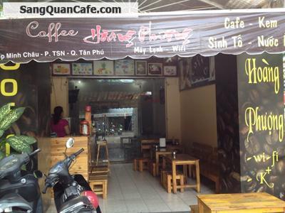 sang lại Quán Cafe Ghế Gỗ - máy lạnh quận Tân Phú
