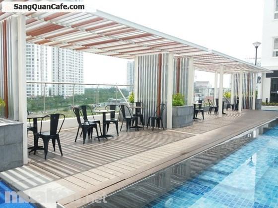 Sang nhanh quán coffee đông khách, giá rẻ, View đẹp ngay cạnh hồ bơi