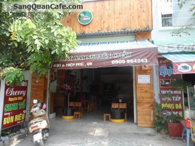sang quán Cafe  đường Man Thiện, P Hiệp Phú, Q9
