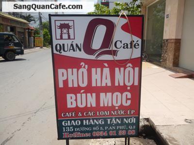 Sang quán cafe & phở mặt tiền đường số 5, Q.2