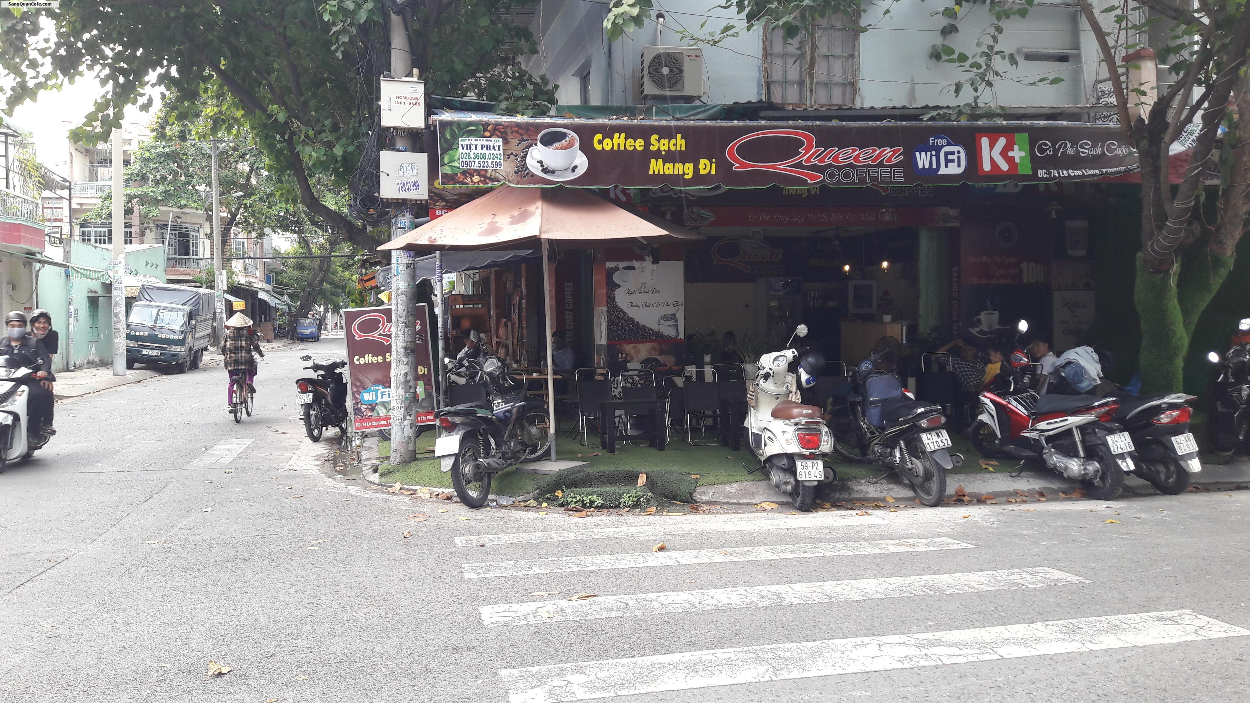 Sang quán Cafe 2 mặt tiền giá rẻ