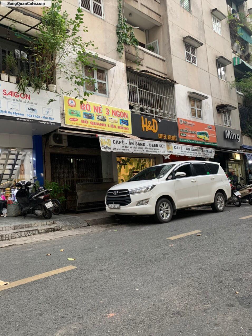 Sang Quán Cafe 2 mặt tiền trước sau  Quận 5