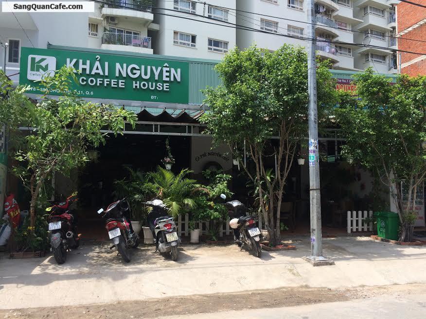 Sang quán cafe ghế gỗ nhạc Acoustic ( 10m x 18m ) KDC Bình Phú quận 6