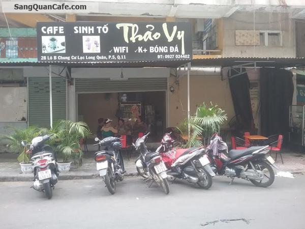 Sang quán cafe đang hoạt động tốt CC Lạc Long Quân