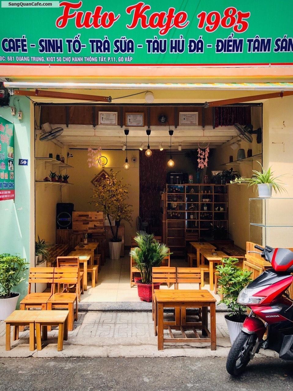 Sang quán cafe, điểm tâm Trong chợ Hạnh Thông Tây