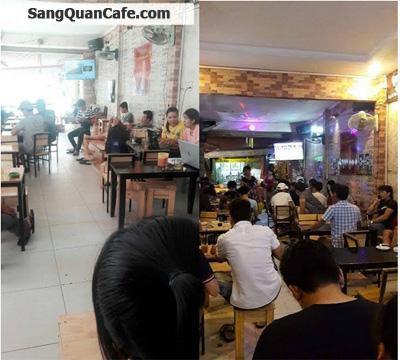 Sang quán cafe ghế gỗ 2 mặt tiền
