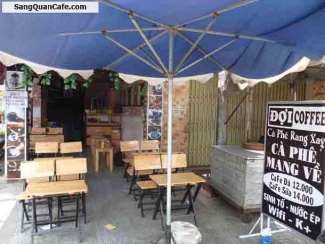 Sang quán cafe ghế gỗ 2 mặt tiền Quang Trung