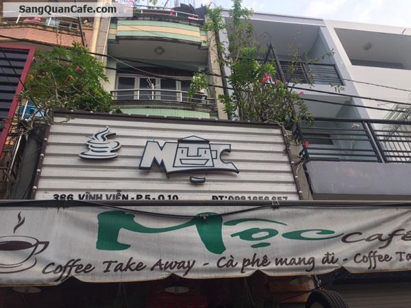 Sang quán cafe ghế gỗ đường Vĩnh Viễn