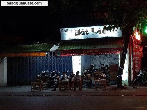 Sang quán cafe ghế gỗ mặt tiền Cây Trâm