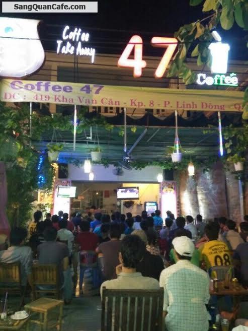 Sang quán cafe ghế gỗ mặt tiền Kha Vạn Cân