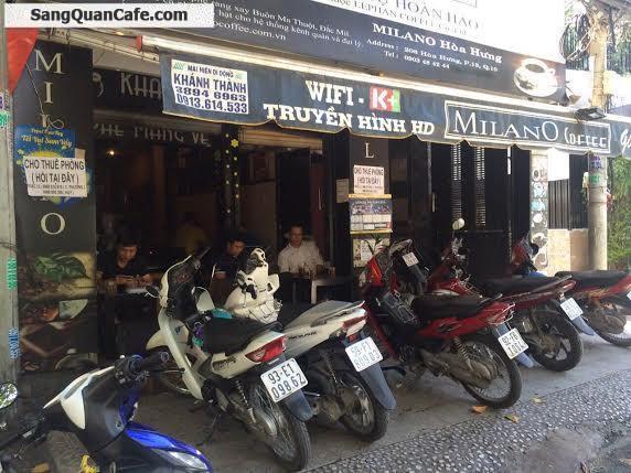 Sang Quán Cafe Ghế Gỗ MiLano quận 10