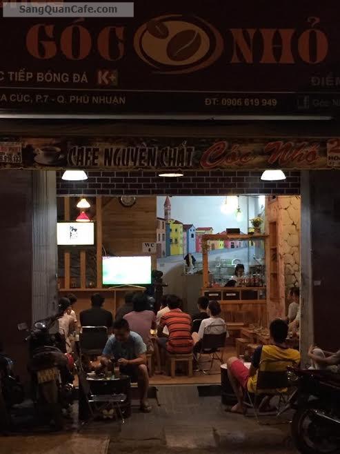 Sang Quán Cafe Ghế Gỗ quận Phú Nhuận