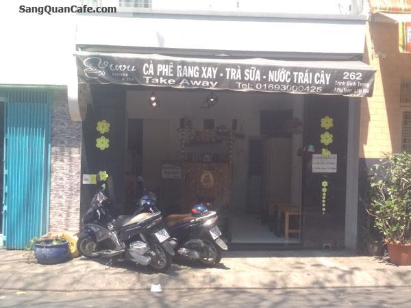Sang quán Cafe ghế gỗ quận Tân Phú