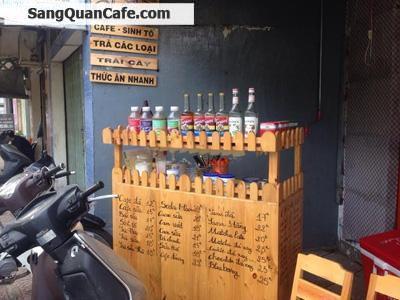 Sang quán cafe ghế gỗ vỉa hè giá rẻ