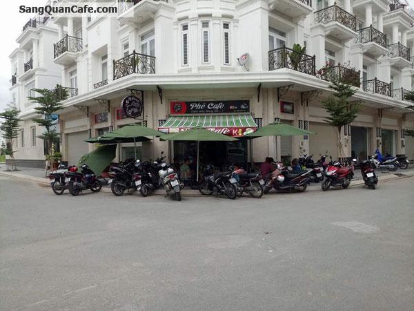Sang quán cafe góc 2 mặt tiền  khu Cityland