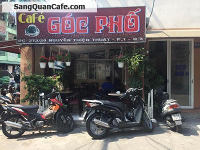 Sang Quán Cafe Góc 2 Mặt Tiền Quận 3
