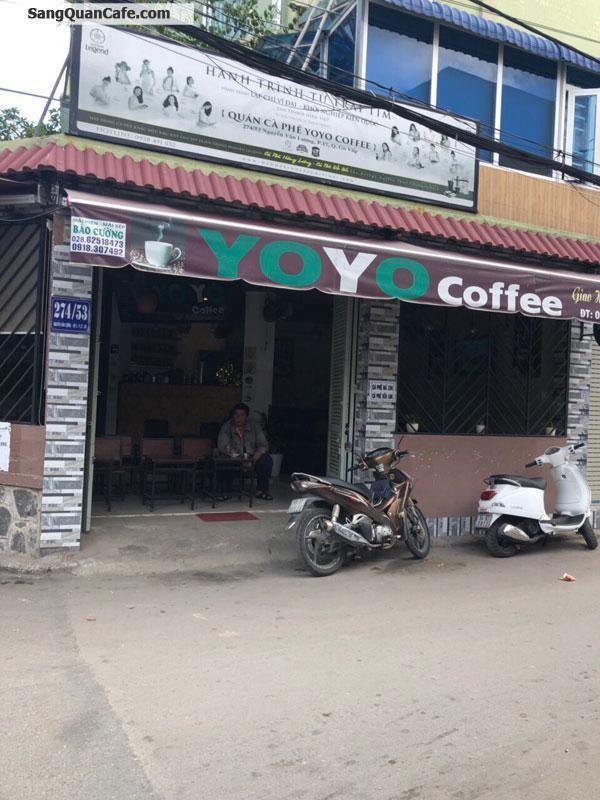 Sang quán cafe góc 2 mặt tiền quận Gò Vấp