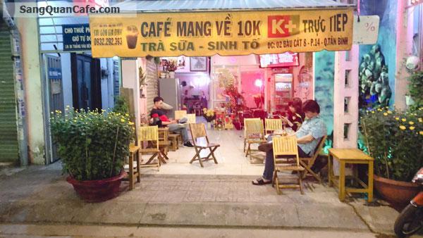 Sang quán cafe khu Bàu Cát ngay góc Âu Cơ