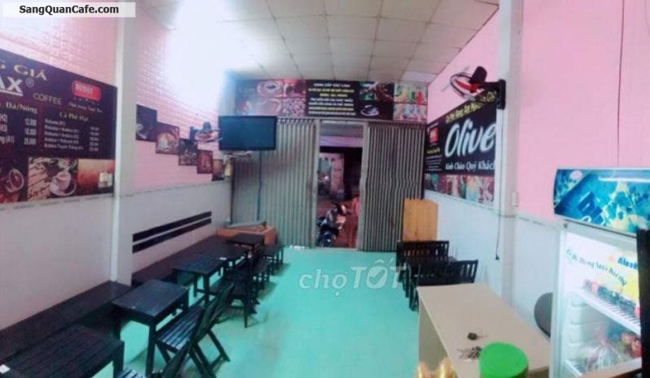 Sang quán cafe mặt bằng tiền đường 20m