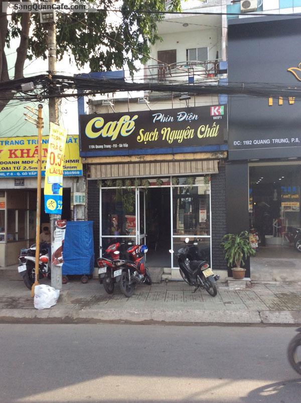 Sang quán cafe mặt tiền  Quang Trung