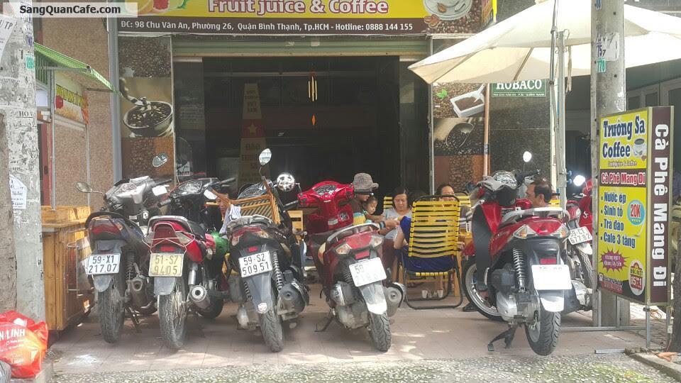Sang quán cafe mặt tiền Chu văn An