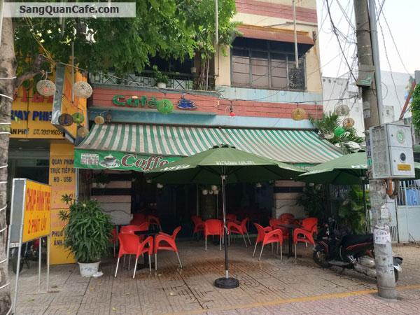 Sang quán cafe mặt tiền đường khu nhiều toà nhà chung cư.