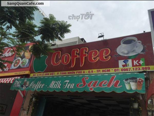 Sang quán cafe mặt tiền đường Lê Văn Việt