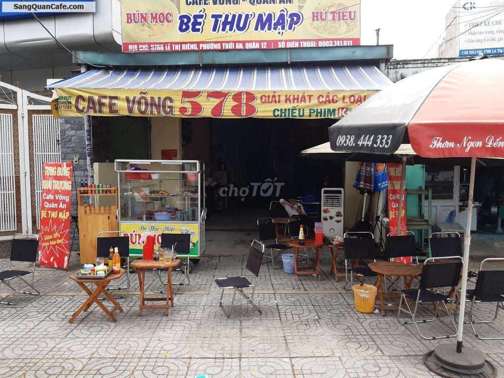 Sang quán cafe mặt tiền đường lớn quận 12