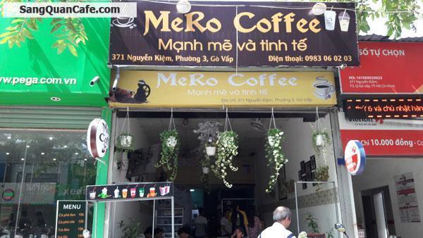 Sang quán cafe mặt tiền đường Nguyễn Kiệm