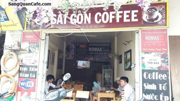 Sang quán cafe mặt tiền đường Nguyễn Tư Giản
