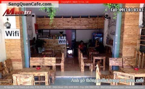 Sang quán cafe mặt tiền đường Rạch Bùng Binh