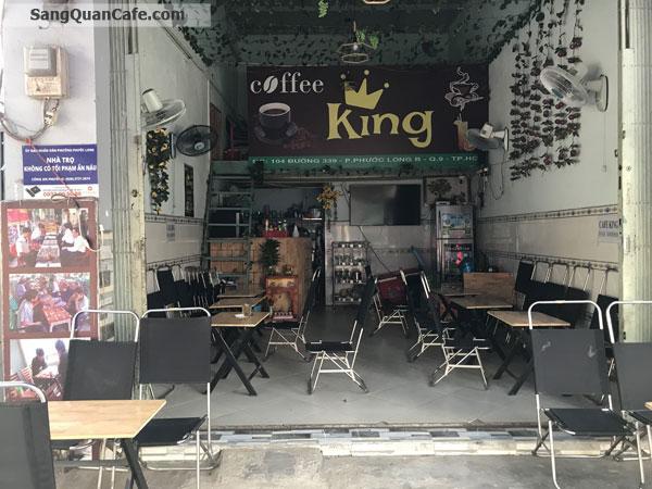 Sang quán cafe mặt tiền khu đông đúc
