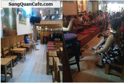 Sang quán cafe ghế gỗ mặt tiền Lê Đức Thọ
