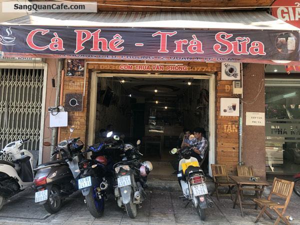 Sang quán Cafe mặt tiền Hoàng Diệu Quận 4, đối diện chợ Xóm Chiếu